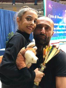 Carla Maghelli Campionessa Italiana Squadra Allieve Gold 1